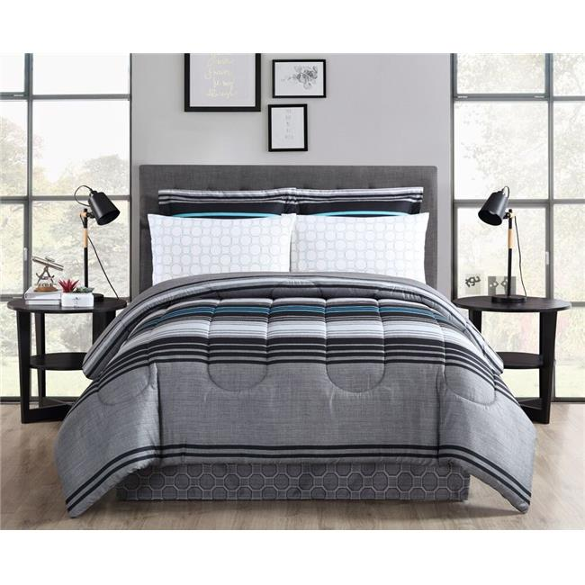 Reston Printed Bed In A Bag Comforter Set, Full