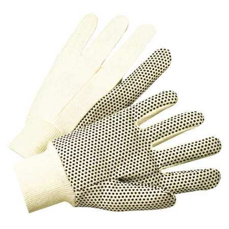 ANCHOR BRAND 101-1005 PVC Canvas Gloves,White/Black,L,PK12