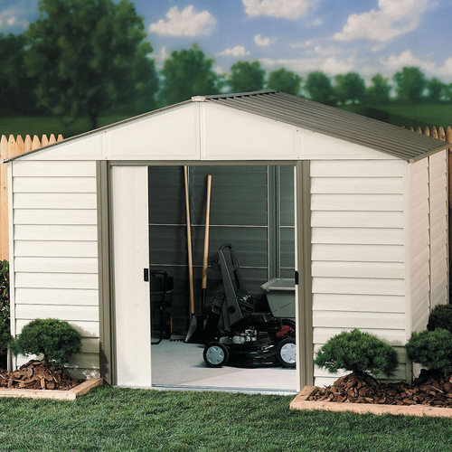 Arrow Milford 10 Ft. W x 12 Ft. D Vinyl Coated Steel Storage Shed