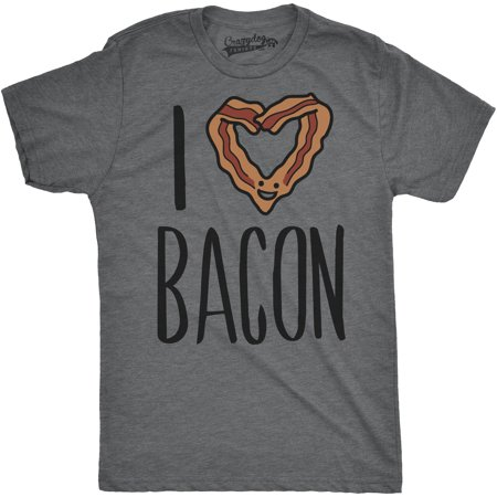 Mens Scented Ink I Heart Bacon Funny Bacon Smelling Scratch And Sniff T Shirt