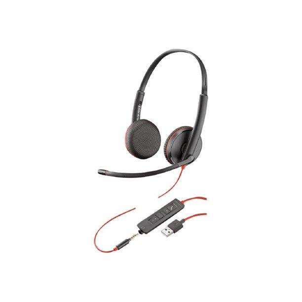 Plantronics Blackwire C3225 Usb A Headset Walmart Com Walmart Com