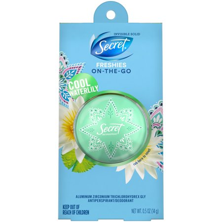 Secret Freshie Cool Waterlily Invisible Solid Deodorant - 0.5oz
