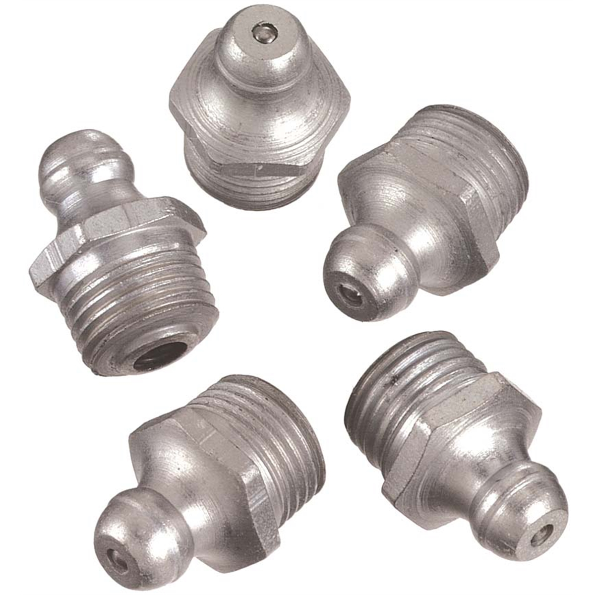 "1/8"" Straight Grease Gun Fittings 10 Count"