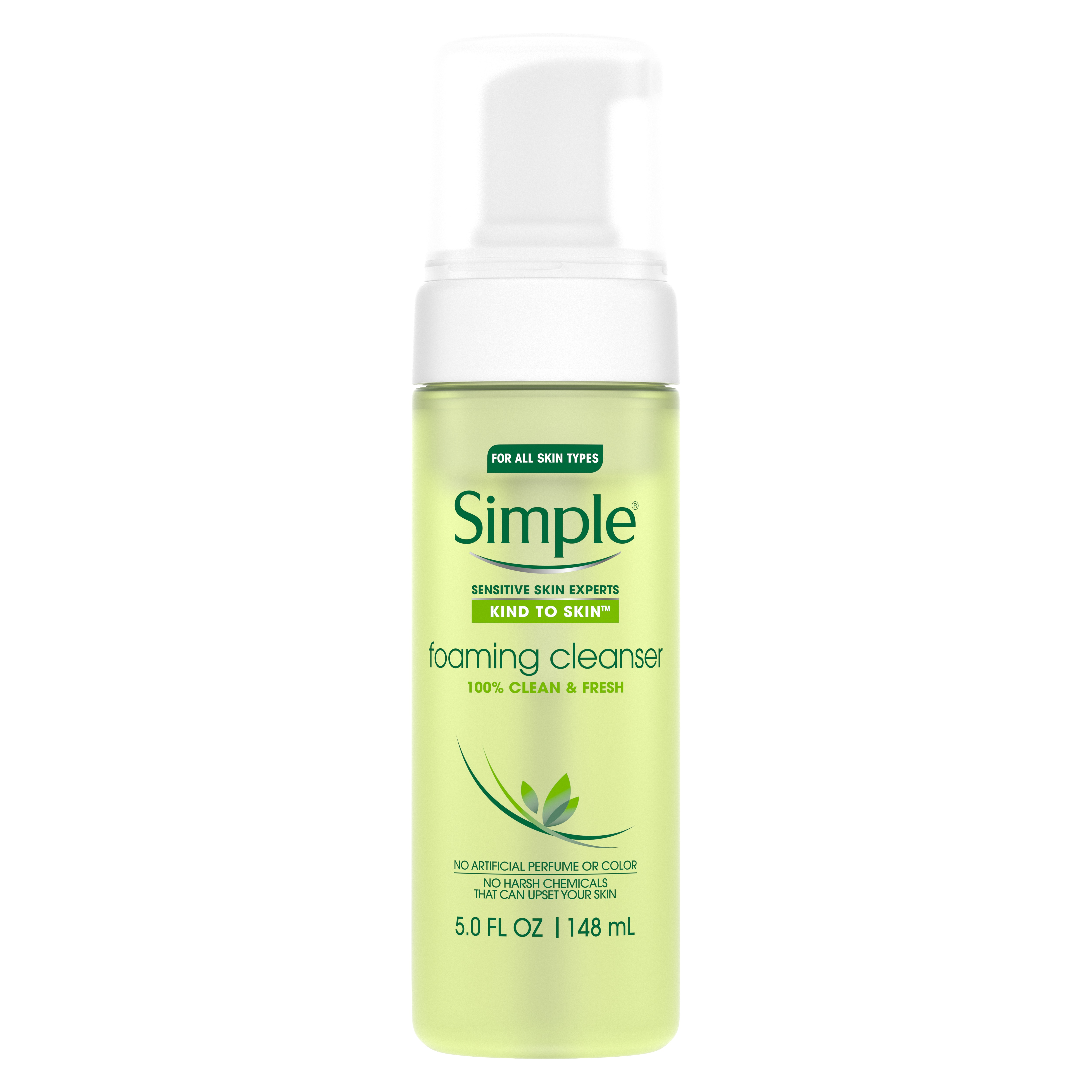 simple skincare routine and products; foaming cleanser