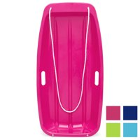 Best Choice Products 35in Kids Outdoor Plastic Sport Toboggan Winter Snow Sled Board w/ Pull Rope, 2 Handles - Pink