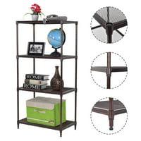 Costway 23''x13''x48'' 4 Layer Steel Storage Rack Shelf Mesh Organizer Home Kitchen