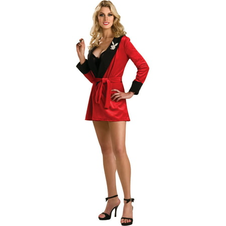 Classy Playboy Bunny Costume (Adult Women's  Playboy Girlfriend Robe)