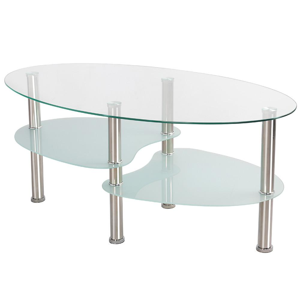 Ordinaire Living Room Modern Glass Top Coffee Tables Metal Base Glass Side End Table  With Stainless Steels Legs