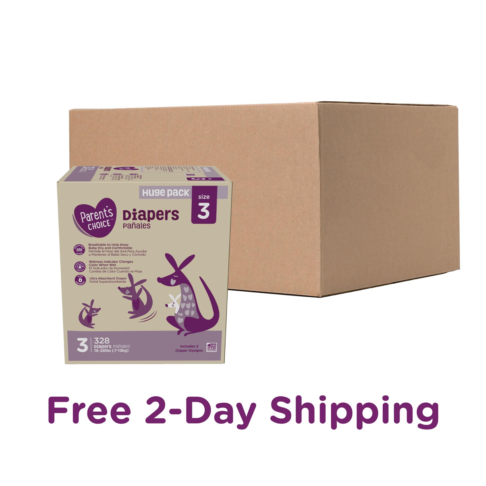 328 Diapers Size 3 Mega Box Parent/'s Choice Diapers