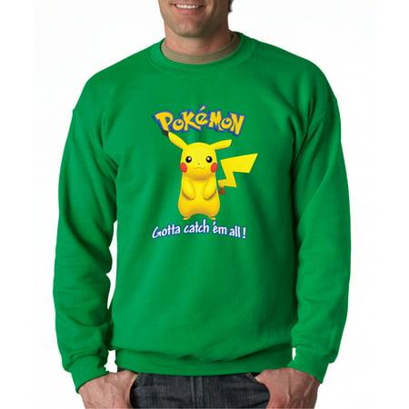Pikachu Hoodie For Men (562 - Crewneck Pokemon Go Gotta Catch 'Em All Pikachu)