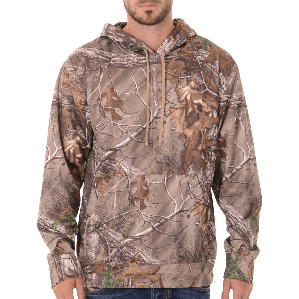 Realtree Men's Camo Performance Fleece Hoodie by INTRADECO