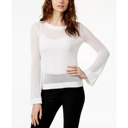 Womens Semi Sheer Knit Sweater Top XL