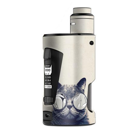 Skin Decal Vinyl Wrap for Geekvape GBox Squonk Kit 200W Vape Kit skins stickers cover / Cool Cat Kat Shades Glasses Tumblr - Cute Cat Halloween Makeup Tumblr