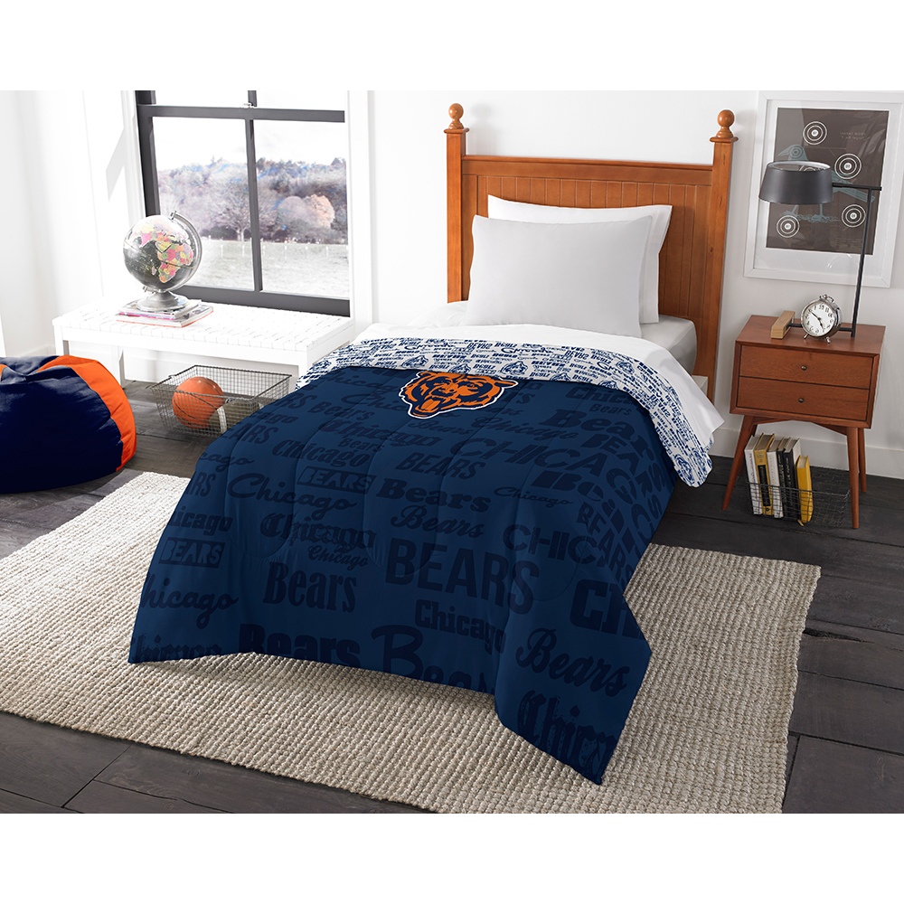 Chicago Bears NFL Twin Comforter (Anthem) (64 x 86)