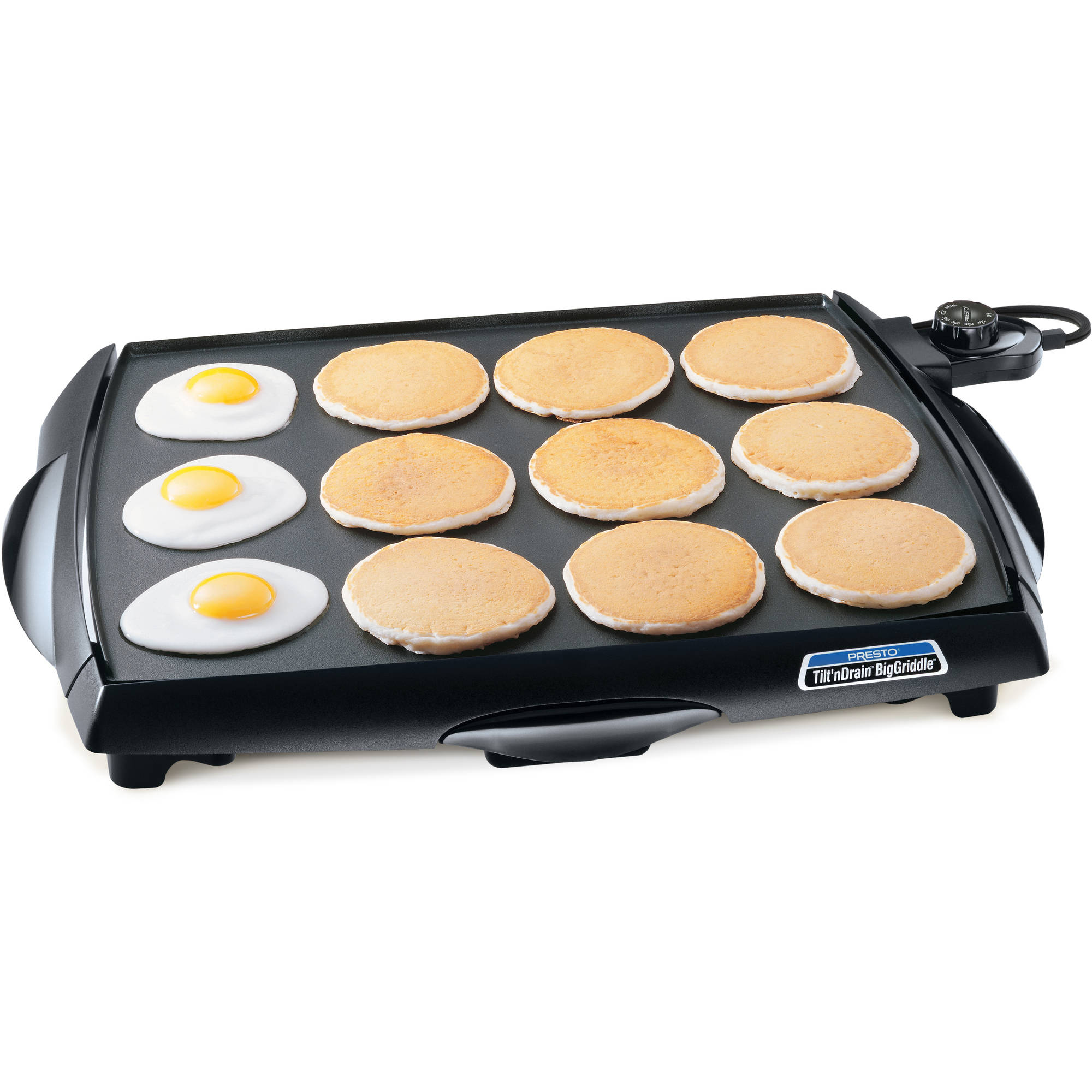 Presto 07046 Tilt'nDrain™ BigGriddle® cool-touch griddle