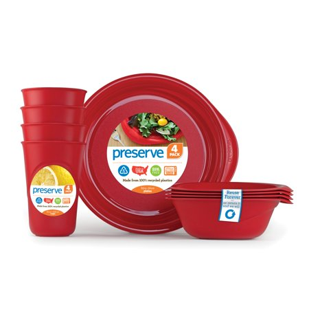 Everyday Tableware Set, Pepper Red, 2 Ct
