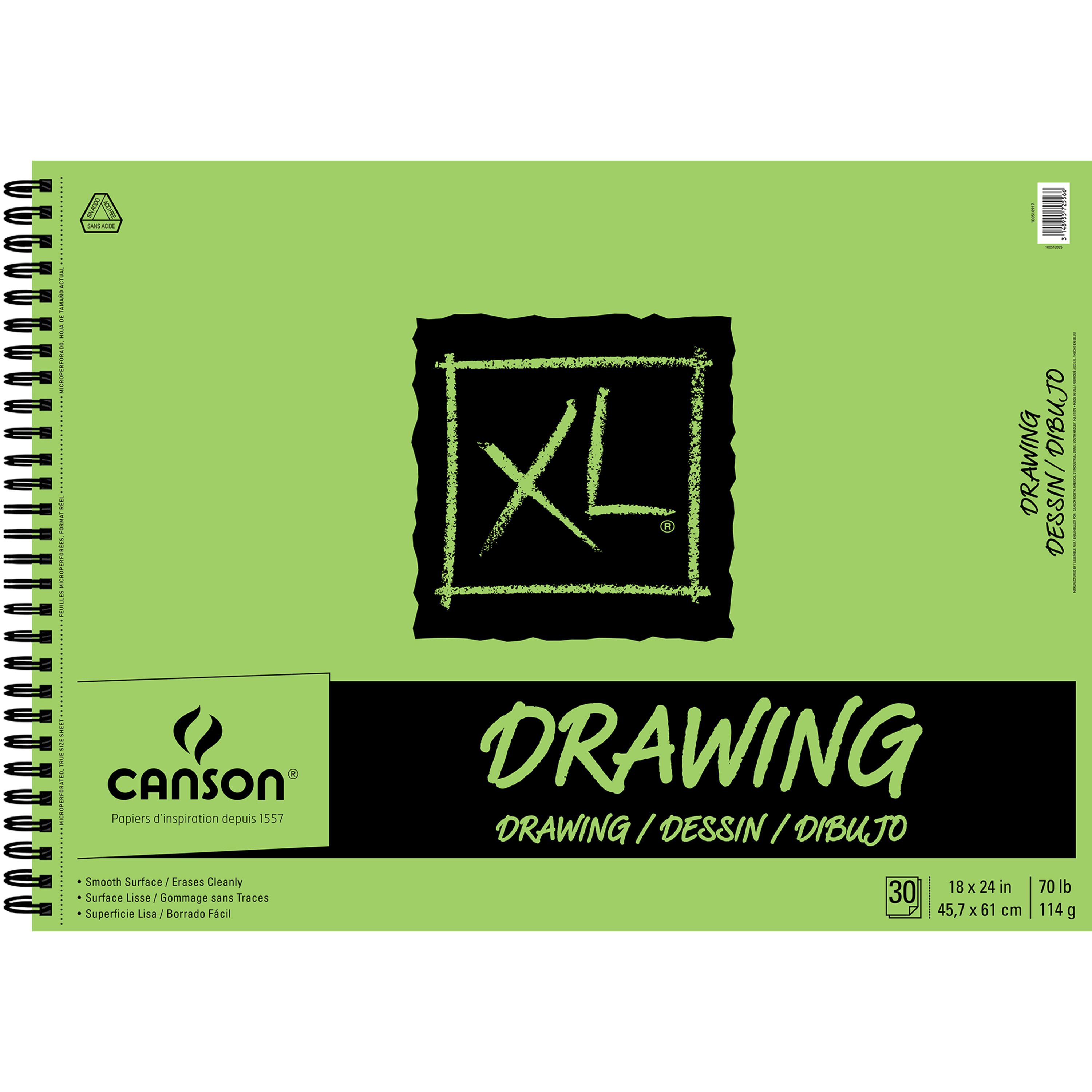 Canson XL Drawing Pad, 18in x 24in, 30 Sheets/Pad