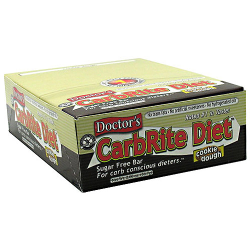 Doctor's CarbRite Sugar Free Bar - Cookie Dough, 12 - 2 oz (56.7 g) bars