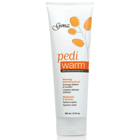 Gena Pedicure Pedi Warm Exfoliating Scrub with Macadamia Nut Oil 8.5oz/250mL