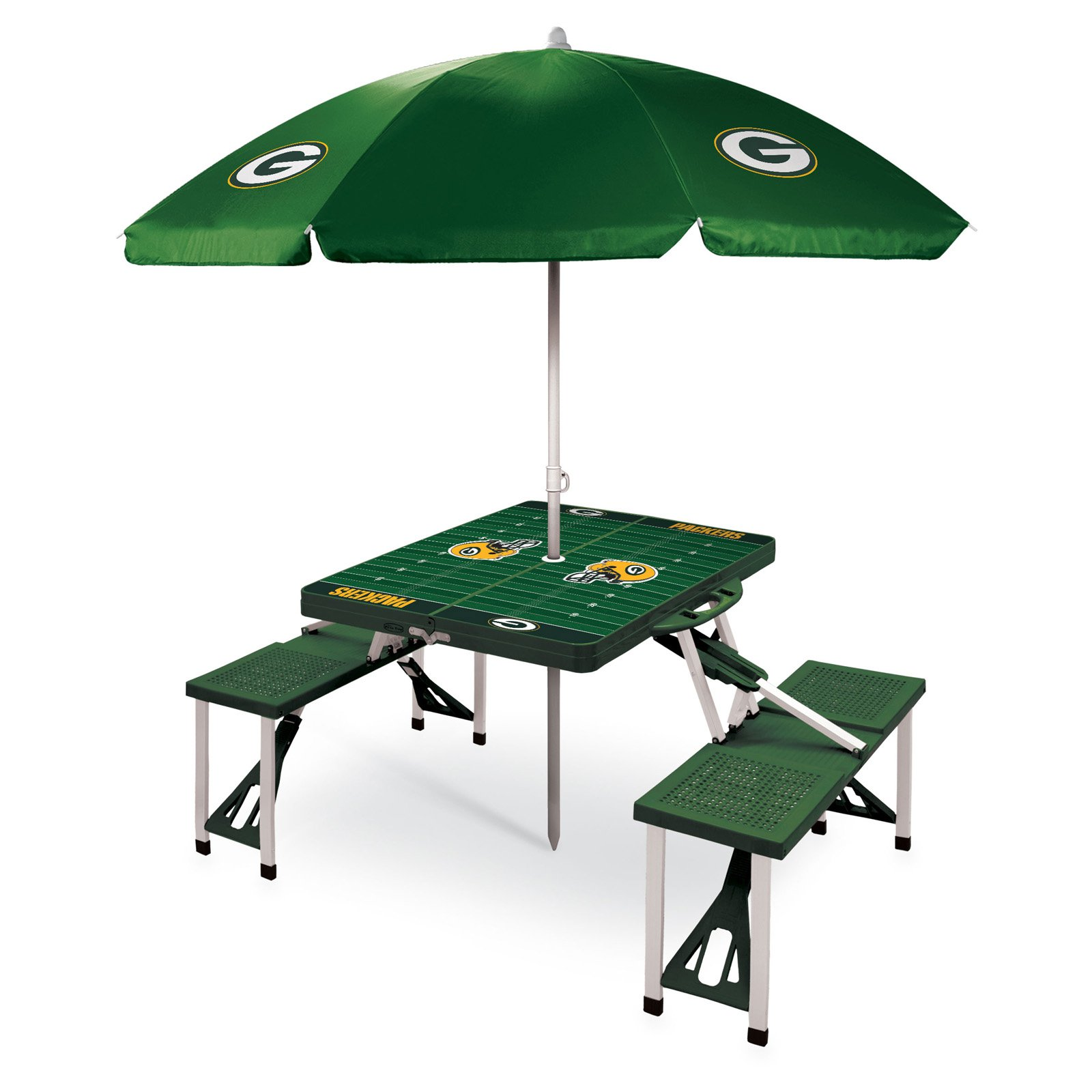 Picnic Time NFL Folding Picnic Table with Umbrella