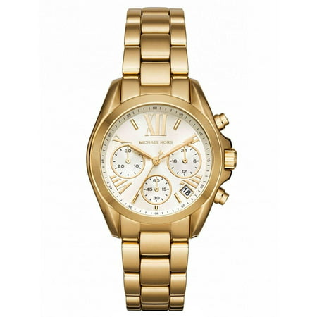 Women's Mini Bradshaw 34mm Gold-Tone Steel Bracelet Case Quartz Champagne Dial Watch (Mini Quartz Watch)