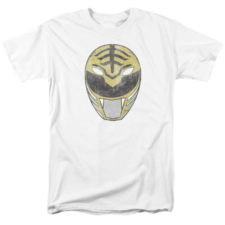 POWER RANGERS/WHITE RANGER MASK-S/S ADULT 18/1-WHITE-2X