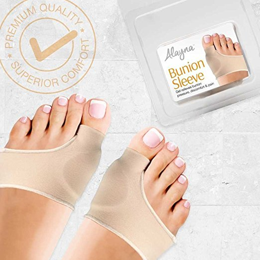 Alayna Bunion Corrector Relief Sleeves Gel Bunion Pads Cushion Bunion Protector Toe Separators Straighteners Spacers ? Hallux Valgus, Big Toe Joint, Hammer Toe Treatment