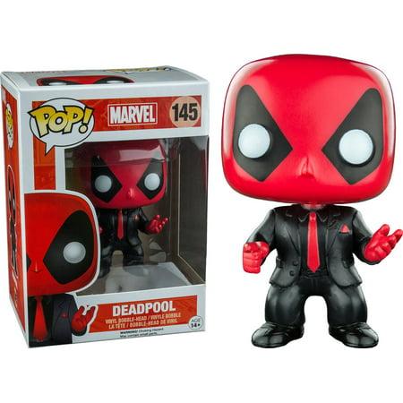 Funko Pop Marvel  Deadpool Suit Exclusive Vinyl Figure