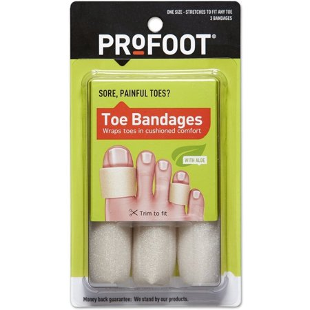 Profoot Bandages - 2 Pack - ProFoot Toe Bandages One Size 3 Each