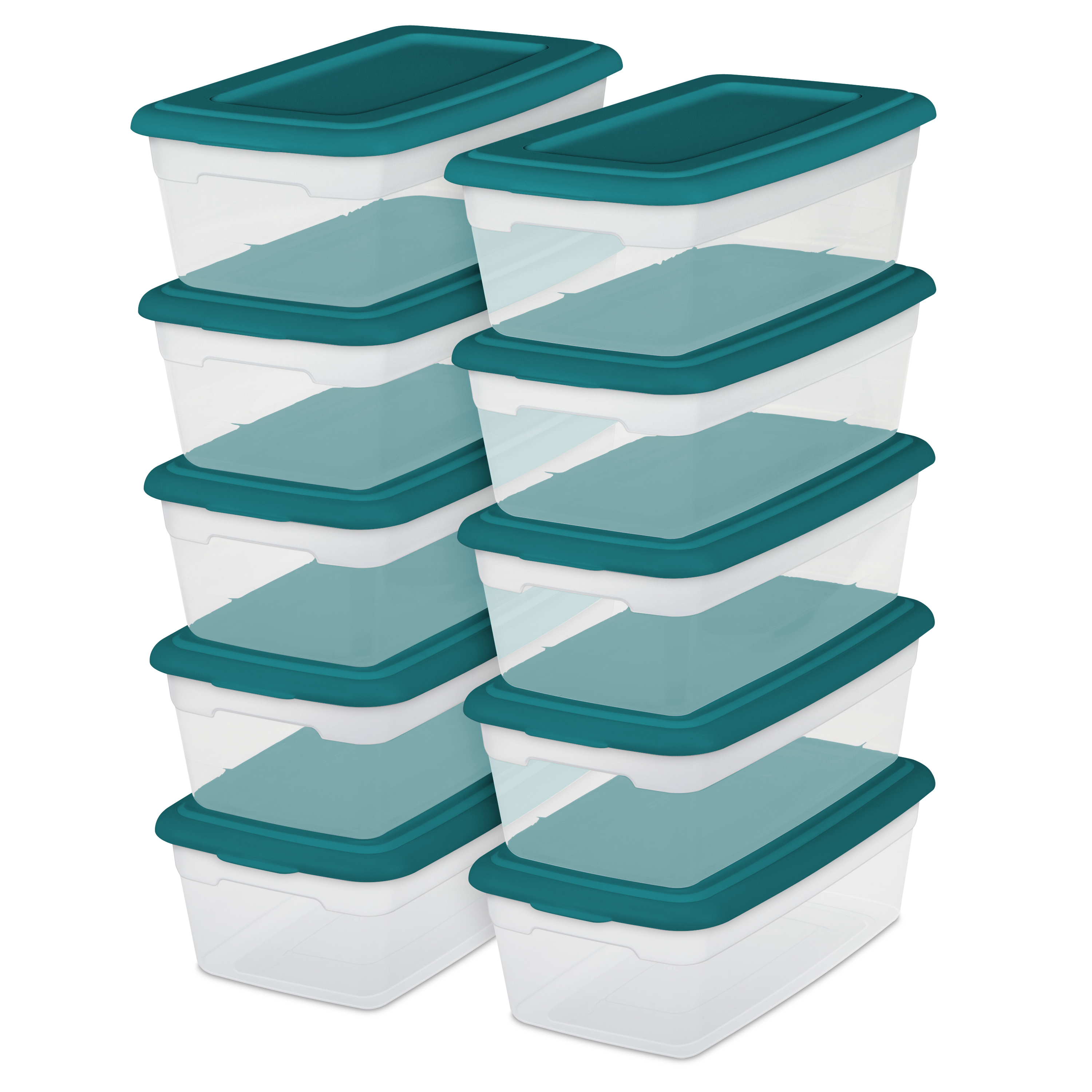 Sterilite 6 Qt./5.7 L Storage Boxes, Teal Sachet (Set of 10 ...