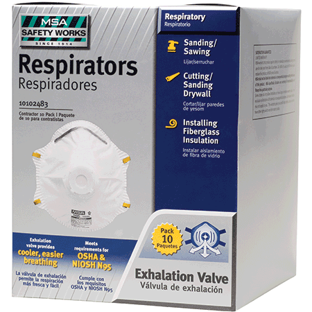 Safety Works Incom 10102483 Msa Safety Works Disposable Dust Respirator