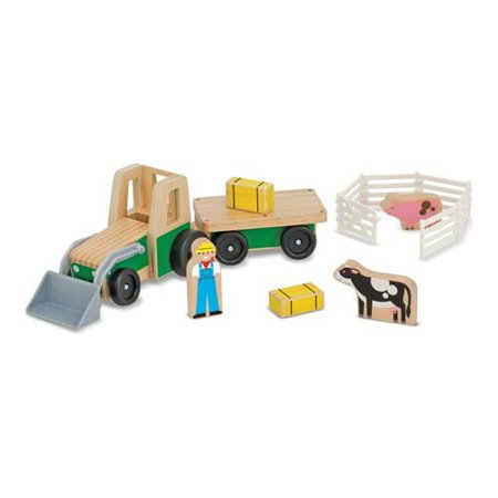 Play Farm (Children's Melissa & Doug Farm Tractor Play Set )