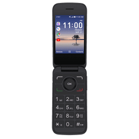 AT&T Alcatel, 4GB, Black - Prepaid SmartFlip Phone