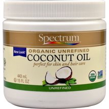 Coconut Oil: Spectrum Essentials Organic Unrefined Coconut Oil