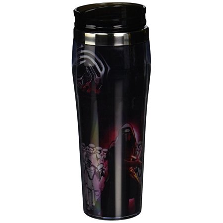 (Silver Buffalo SE0370 Disney Star Wars Ep7 Villain Group Poster Curved Plastic Travel Tumbler, 16 oz)