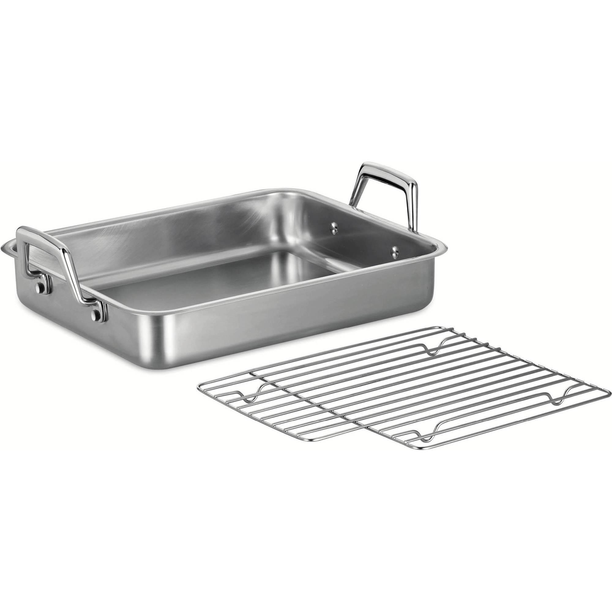 "Tramontina Prima 13.5"" Roasting Pan with Basting Grill"