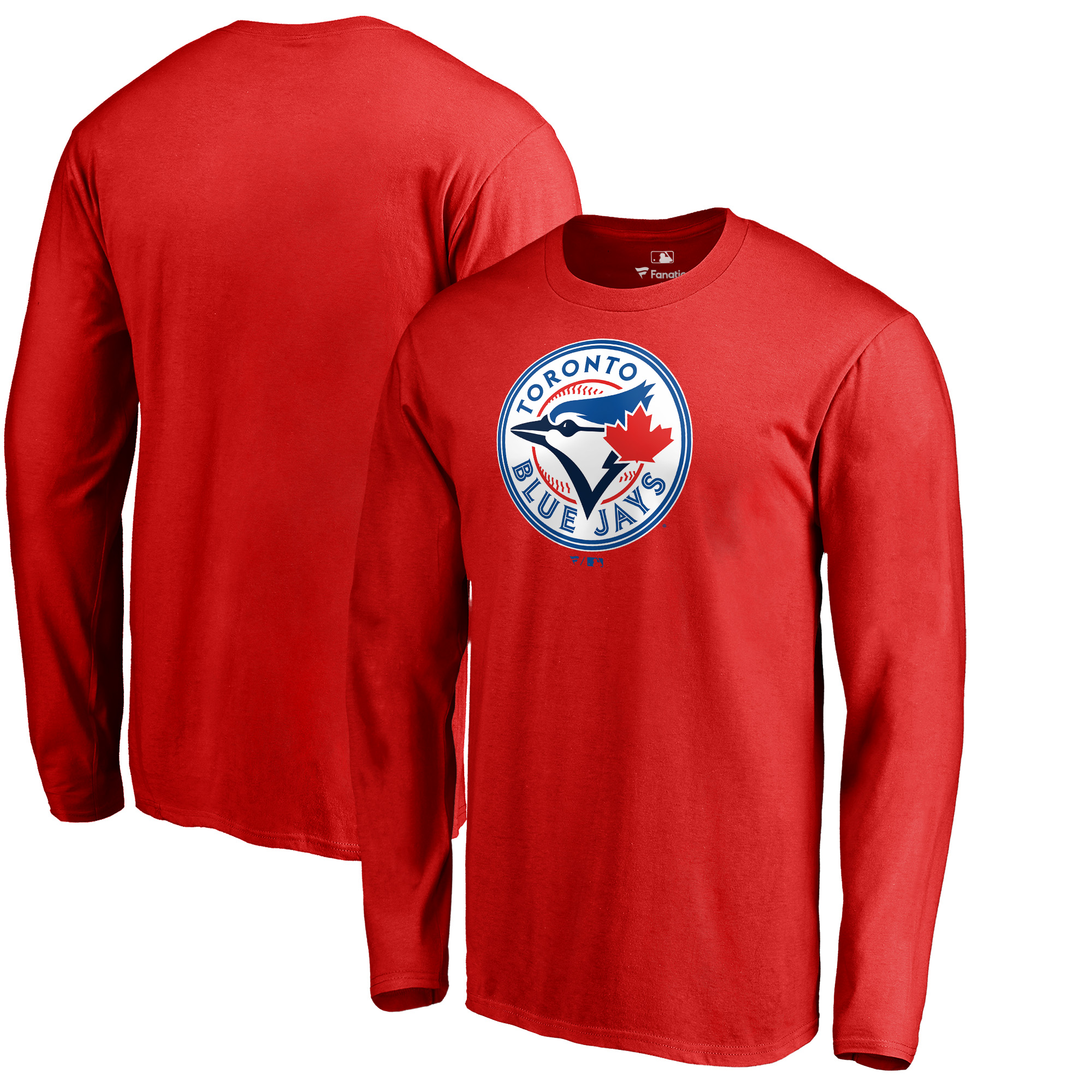 Toronto Blue Jays Fanatics Branded Big & Tall Team Wordmark Long Sleeve T-Shirt - Red