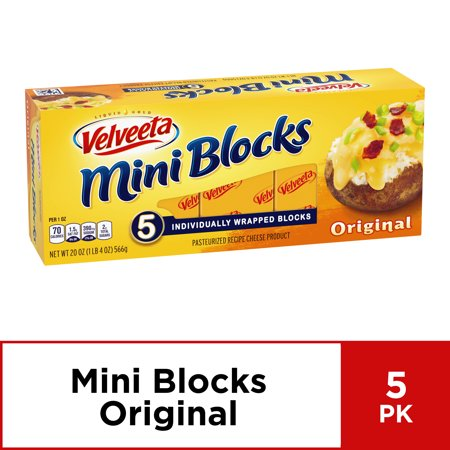 Velveeta Mini Cheese Blocks, Original Cheese, 5 ct - 20.0 oz Box (Holland Gouda Cheese)