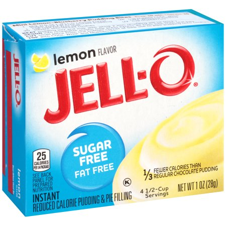 (4 Pack) Jell-O Instant Sugar-Free Lemon Pudding & Pie Filling, 1 oz Box ()