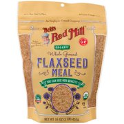 Bob's Red Mill, Organic Whole Ground Flaxseed Meal, 16 oz (pack of 2)
