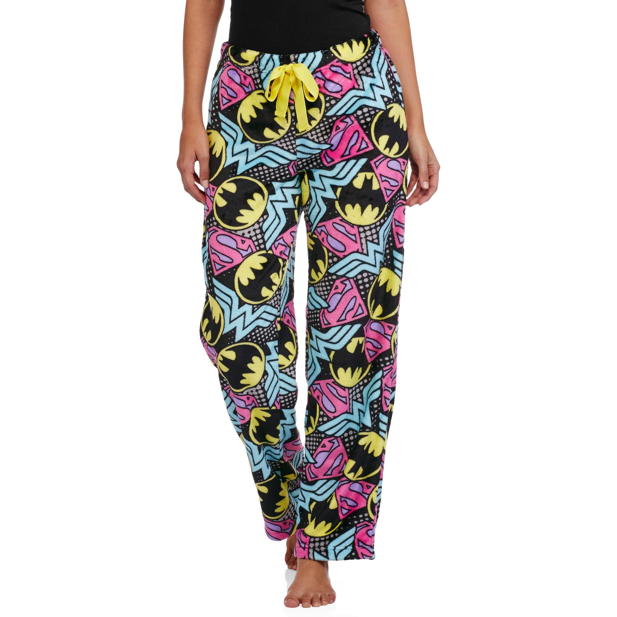 DC Comics Women's License Pajama Super Minky Plush Fleece Sleep Pant