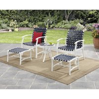 Mainstays Willow Valley 5 Piece Chat Set (Blue)