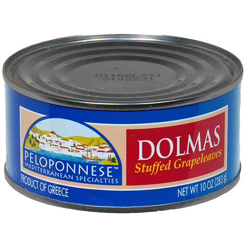 Peloponnese Stuffed Grape Leaves with Raisins & Pine Nuts, 10 oz (Pack of 6)