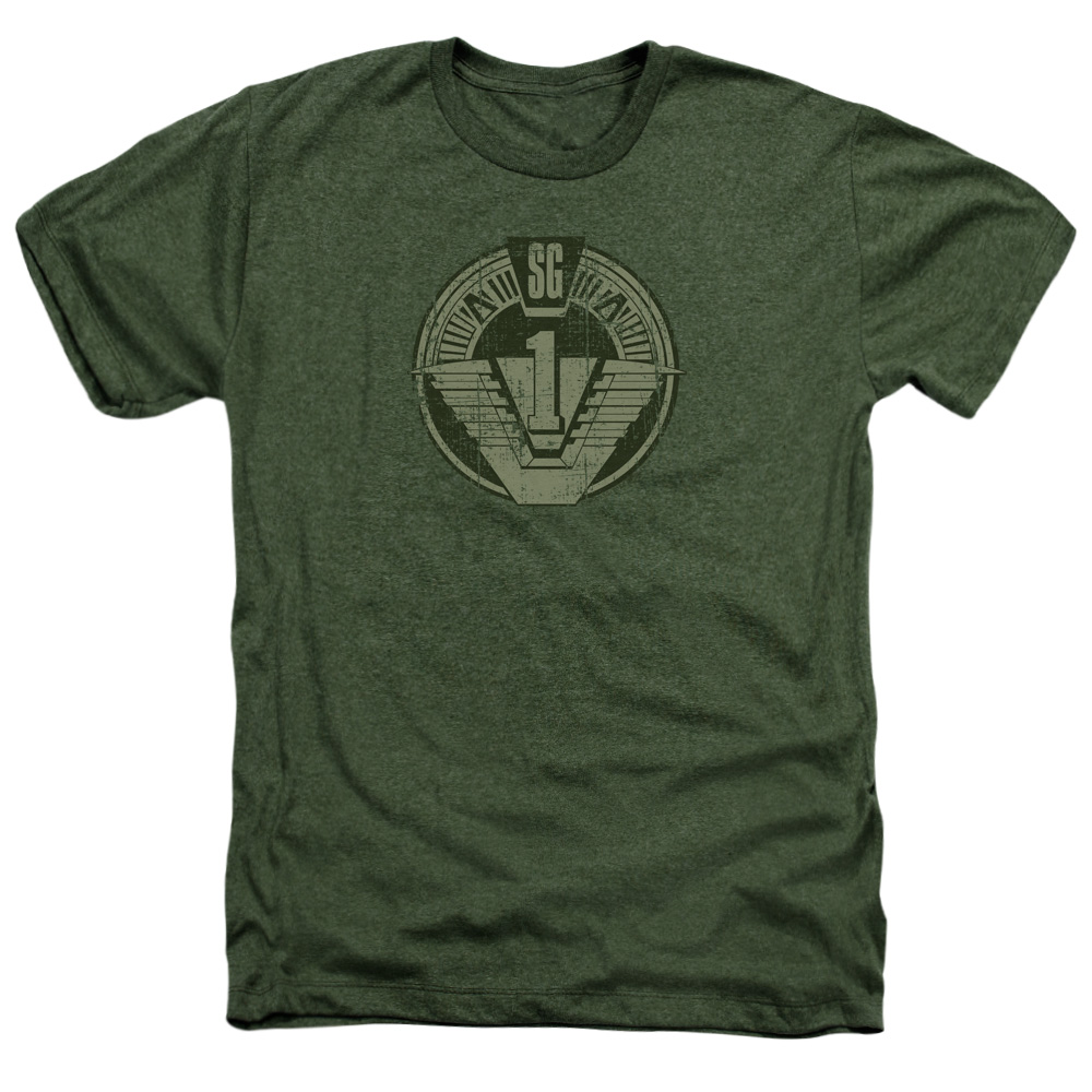 Stargate Sg1 Distressed Mens Heather Shirt