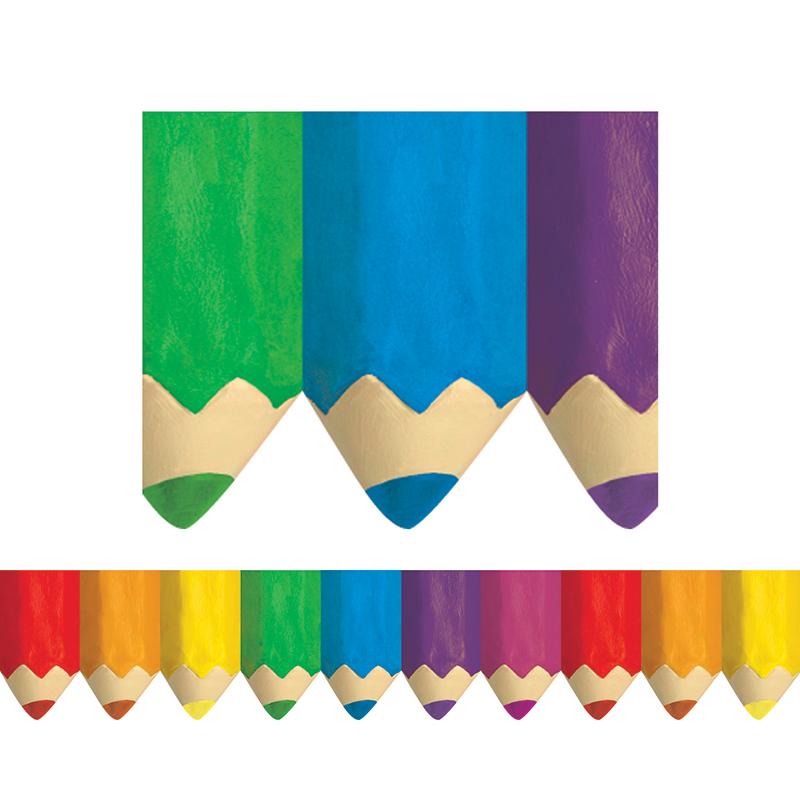 (6 Pk) Colored Pencils Borders