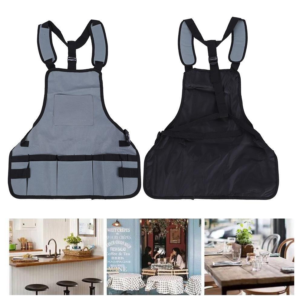 Oxford Cloth DIY Adjustable Belt Home Chef Apron with 3 Pockets for Outdoor Woodworking Gardening Carpenter Camping BBQ and Hobby BBQ Apron Brown