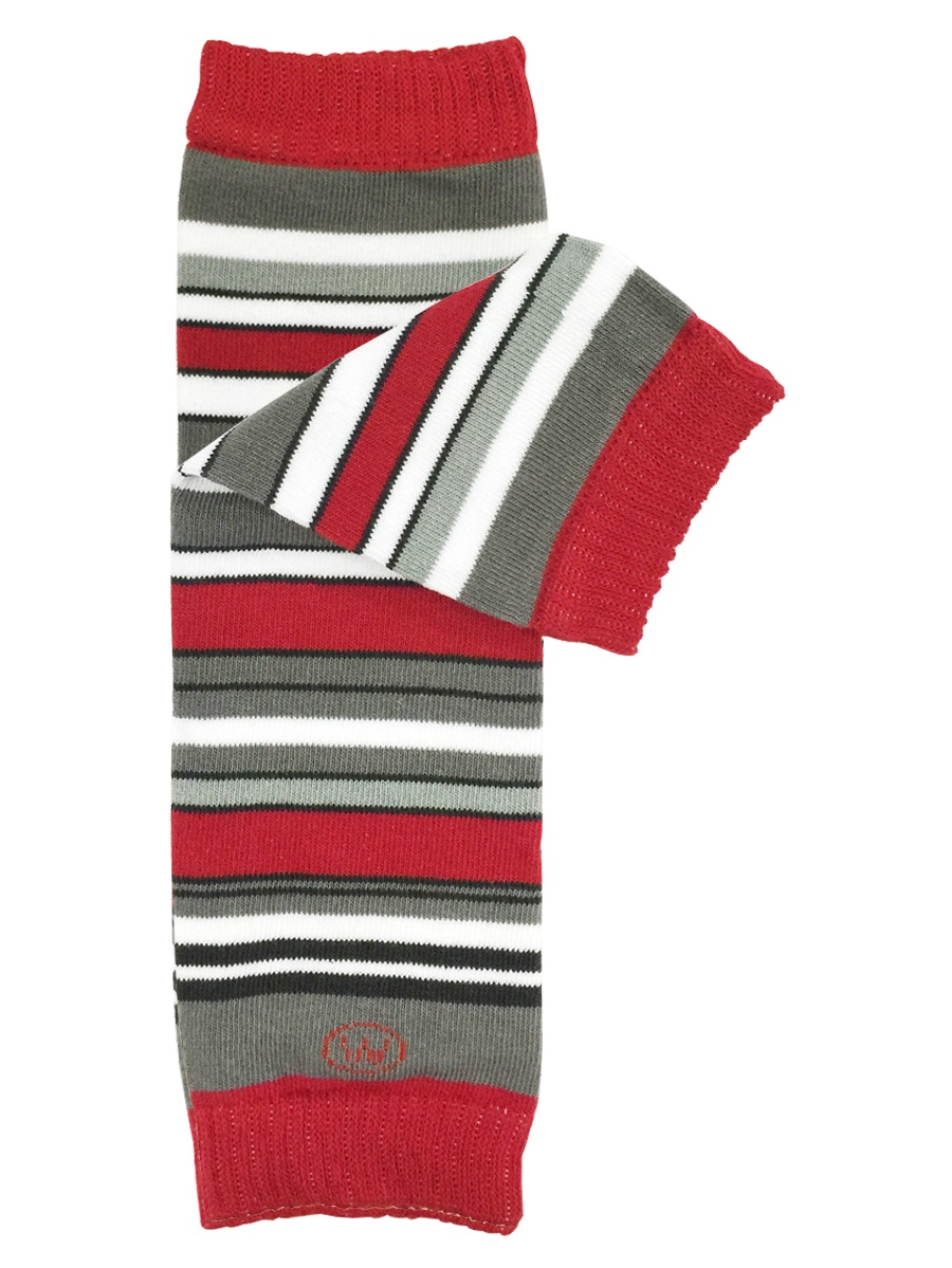 Wrapables® Baby Stripes and Chevron Leg Warmers, Boy Blue Stripes