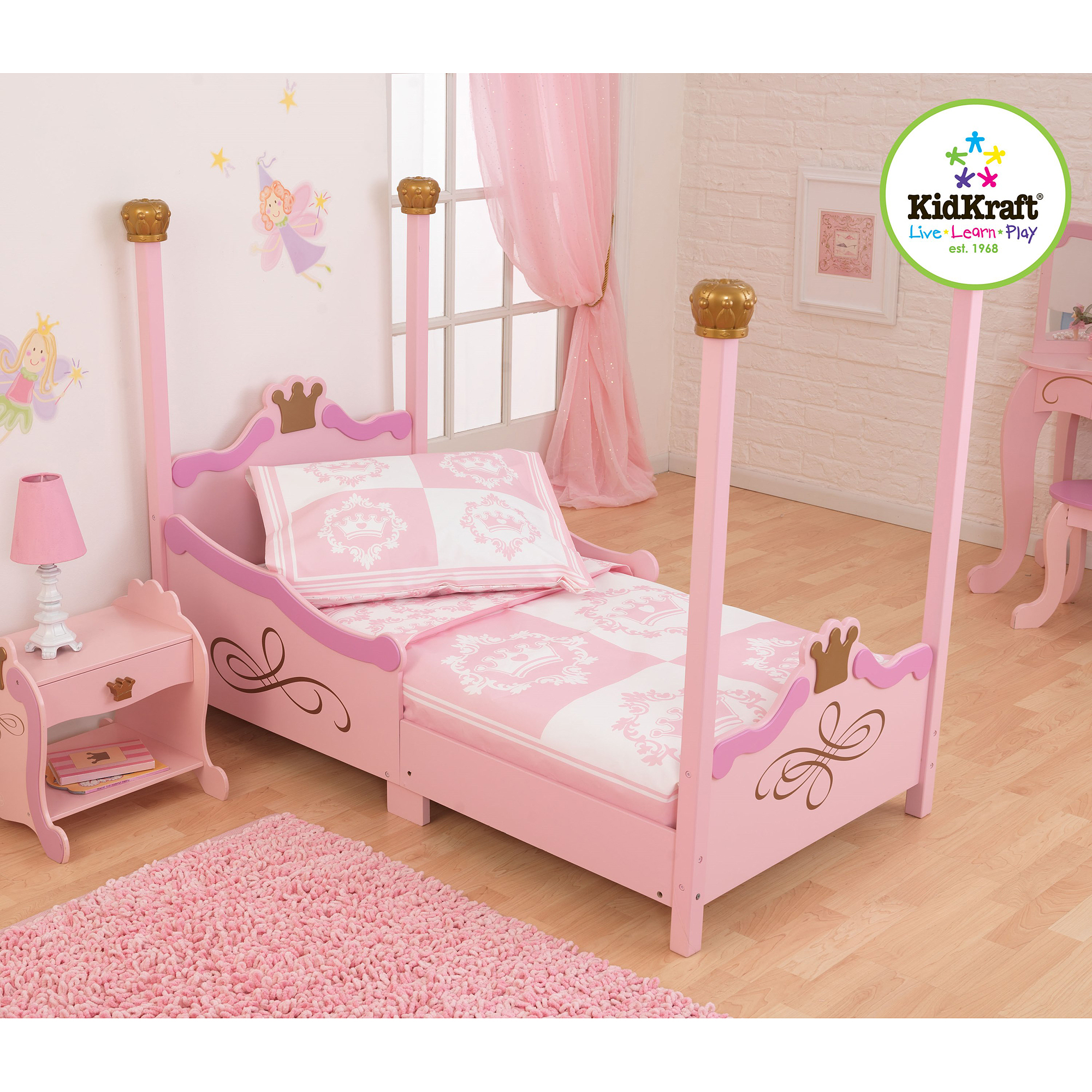 KidKraft Princess 4-Piece Toddler Bedding Set