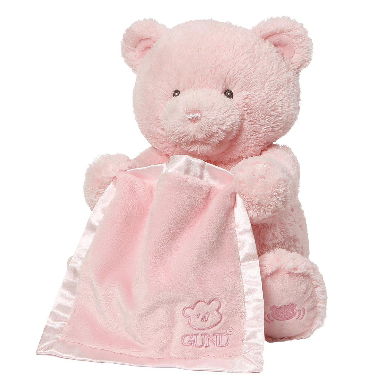 Baby My First Teddy Bear Peek A Boo Animated Baby Stuffed Animal, Pink, Cream Peek-A-Boo... by