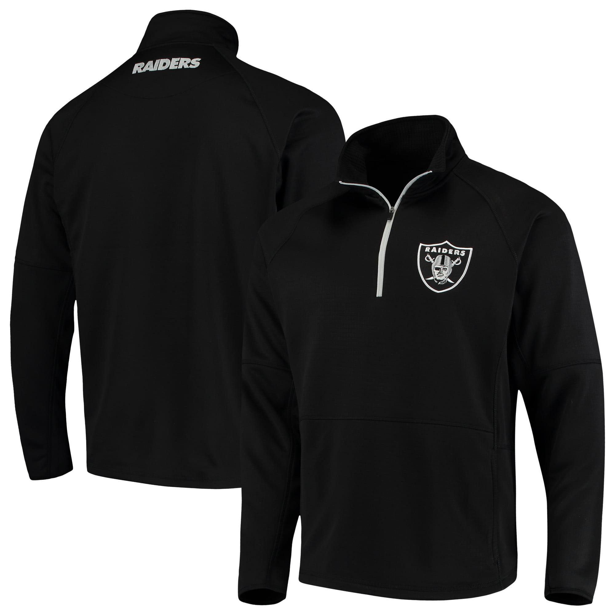 Oakland Raiders G-III Sports by Carl Banks Challenge Microfleece Quarter-Zip Jacket - Black